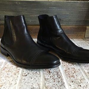*Steve Madden* leather slip on boot men's size 8